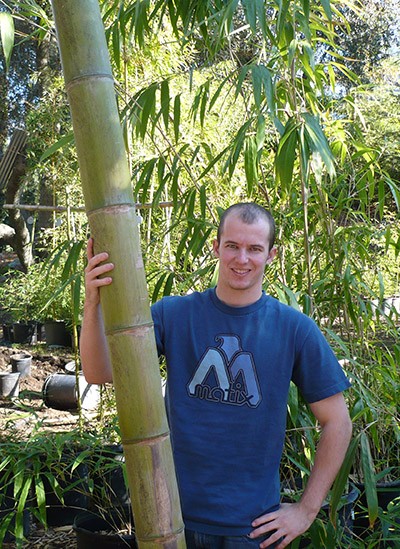Jeff Delaney with Giant Bamboo Pole